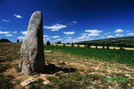 Menhir Standing in Cevennes National Park, Франция